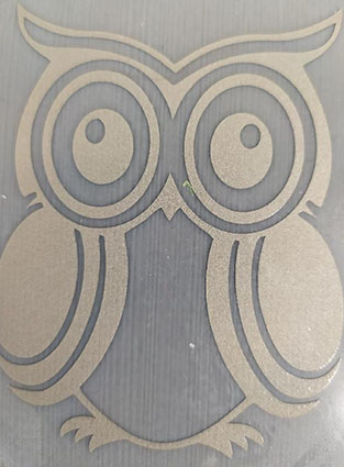 Reflective iron-on picture Owl 8x6 cm