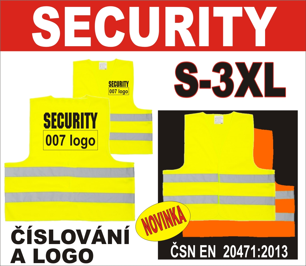Reflexni vesta YOYO SECURITY, EN ISO 20471:2013